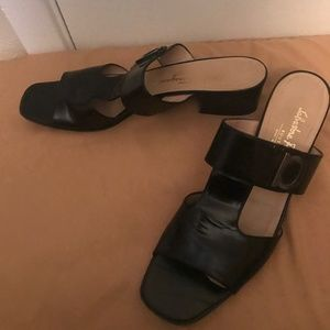 Salvatore Ferragamo patent leather sandals